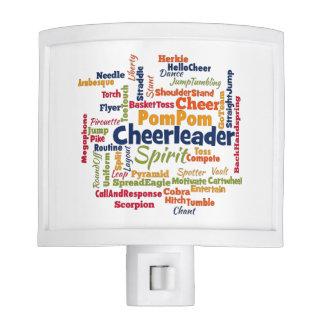 Cheerleader Word Cloud (Cheer Leader) Night Light