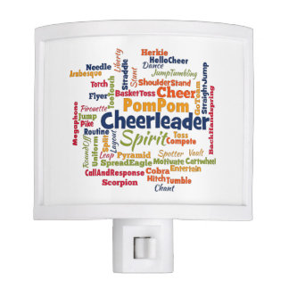 Cheerleader Word Cloud (Cheer Leader) Night Lite