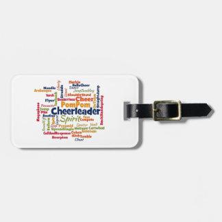 Cheerleader Word Cloud (Cheer Leader) Tag For Luggage