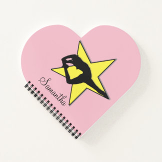 Cheerleader yellow flyer heart notebook