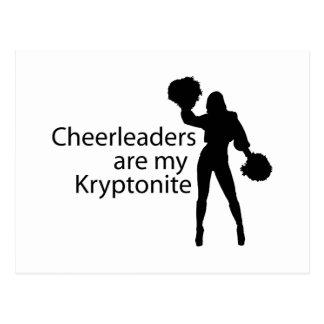 Cheerleaders are my Kryptonite Post Cards