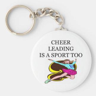 cheerleaders basic round button keychain