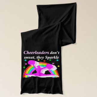 CHEERLEADERS DON'T SWEAT THEY SPARKLE SCARF