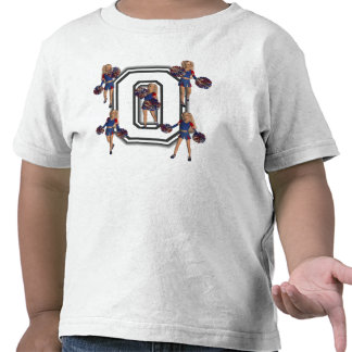 Cheerleaders for Obama School Jersey Letter O Shirts
