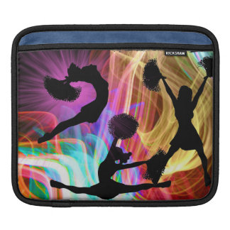 Cheerleaders in Electric Laser Show iPad Sleeve