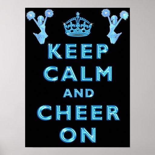 Cheerleaders KEEP CALM AND CHEER ON Posters