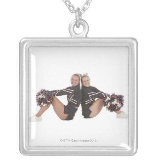 Cheerleaders Square Pendant Necklace