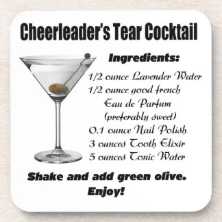 Cheerleader's Tear Cocktail Beverage Coasters