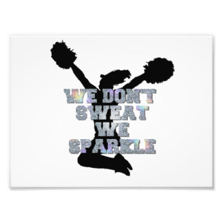 Cheerleaders we sparkle photo print