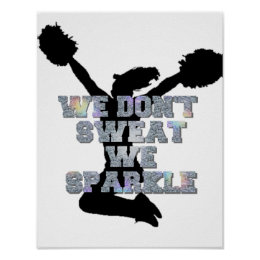 Cheerleaders we sparkle poster