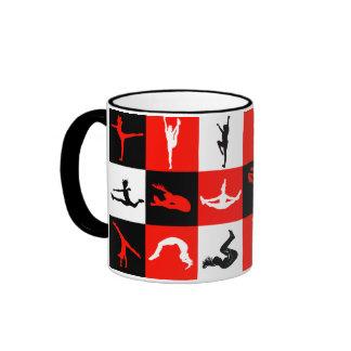 Cheerleading Block Mug in Red