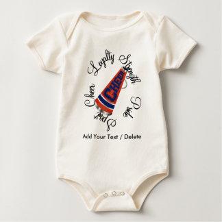 Cheerleading Blue and Orange! by SRF Baby Bodysuit