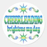 Cheerleading Brightens Round Sticker