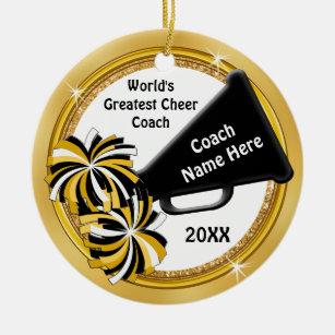 cheerleading coach gift ideas personalized ceramic ornament