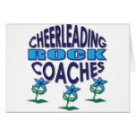 Cheerleading Coaches Rock Gifts Greeting Cards
