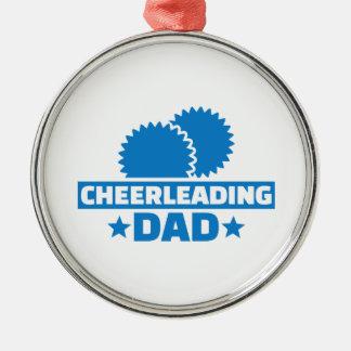 Cheerleading Dad Metal Ornament