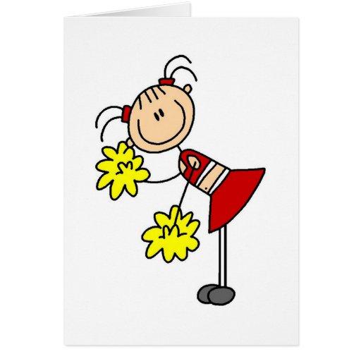 cheerleading girl stick figure card zazzle