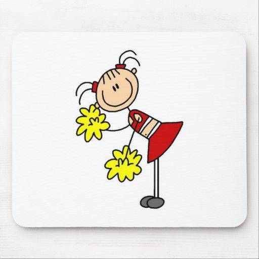 Cheerleading Girl Stick Figure Mousepad