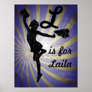 Cheerleading Girls ANy Name Art Print Poster