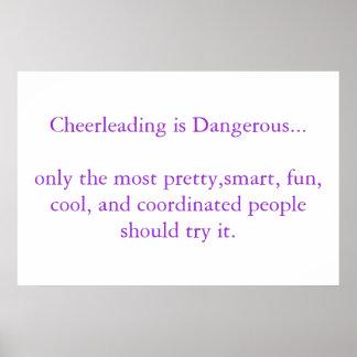 Cheerleading is Dangerous Poster