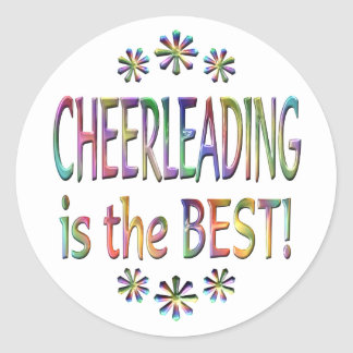 Cheerleading is the Best Classic Round Sticker