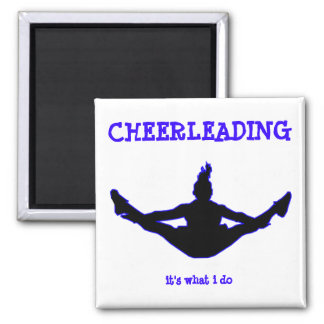 Cheerleading: it's what i do toe-touch key chain 2 inch square magnet