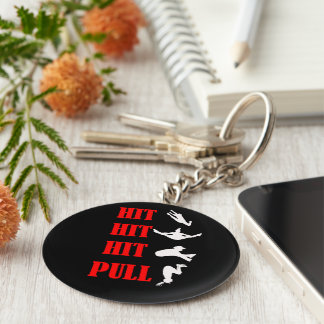 Cheerleading Jump Combo Key Chain