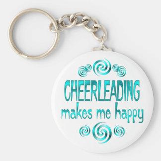 Cheerleading Makes Me Happy Keychains
