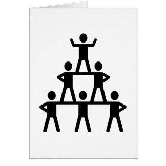 Cheerleading Pyramid Card
