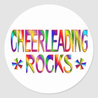 Cheerleading Rocks Sticker