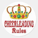 CHEERLEADING RULES ROUND STICKER