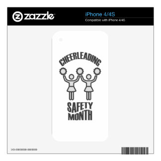 Cheerleading Safety Month - Appreciation Day Decal For iPhone 4