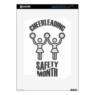 Cheerleading Safety Month - Appreciation Day iPad 3 Decal