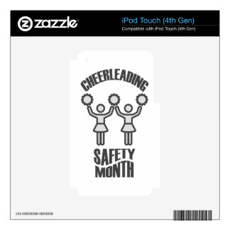Cheerleading Safety Month - Appreciation Day Skins For iPod Touch 4G