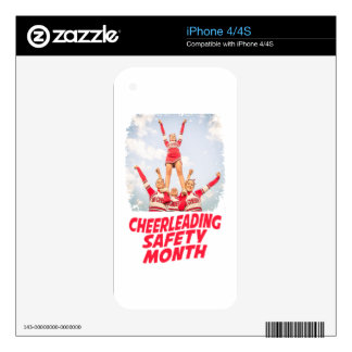 Cheerleading Safety Month - March iPhone 4 Skins
