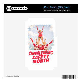 Cheerleading Safety Month - March iPod Touch 4G Skins