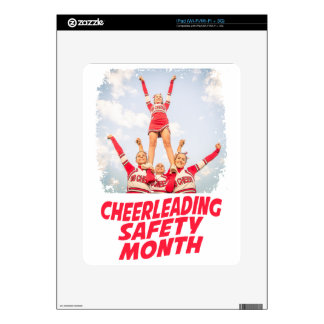 Cheerleading Safety Month - March Skin For iPad