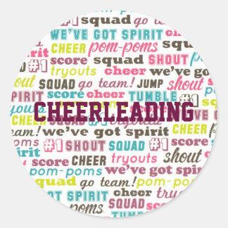 Cheerleading Sayings Personalized Sticker