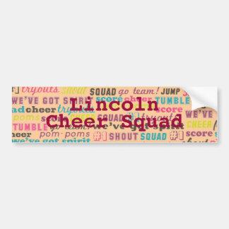 Cheerleading School Family  Custom Bumper Sticker