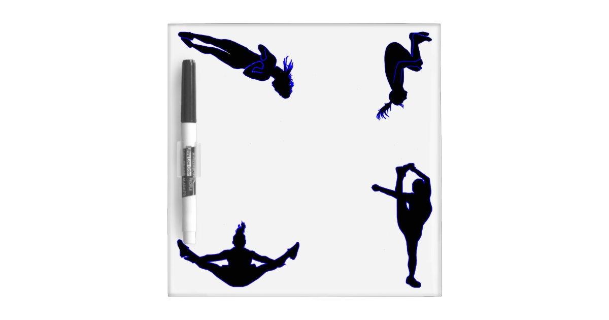 Cheerleading Silhouettes Dry Erase Board Zazzle Com