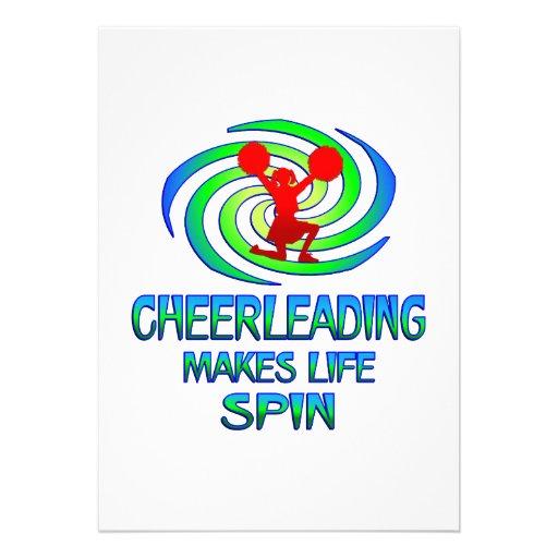 Cheerleading Spins Custom Invitations