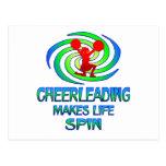 Cheerleading Spins Post Card