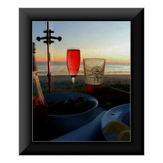 Cheers 2 in a Black Frame Poster