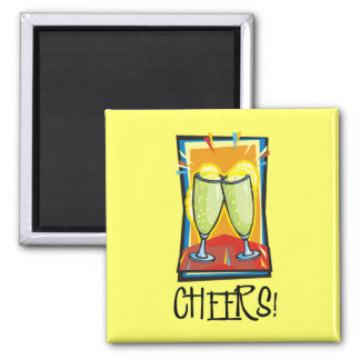Cheers! 2 Inch Square Magnet