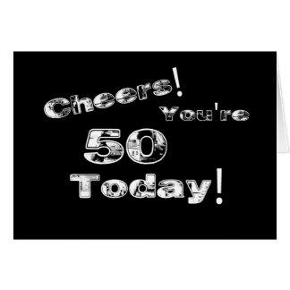 Cheers! 50th Birthday Card