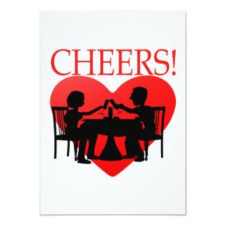 Cheers 5x7 Paper Invitation Card