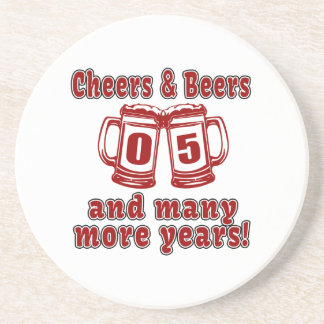 Cheers And Beers 05 Years Coaster