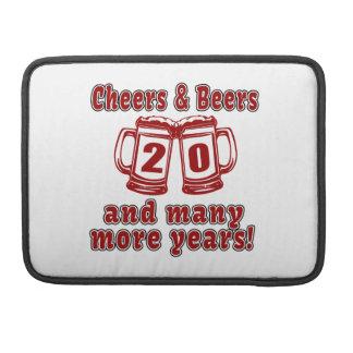 Cheers And Beers 20 Years MacBook Pro Sleeve