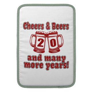 Cheers And Beers 20 Years Sleeve For MacBook Air