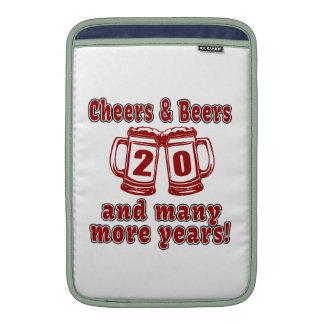 Cheers And Beers 20 Years Sleeves For MacBook Air
